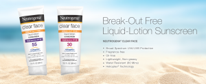 Neutrogena Clear Face Break-Out Free Liquid-Lotion Sunscreen Broad Spectrum SPF 55